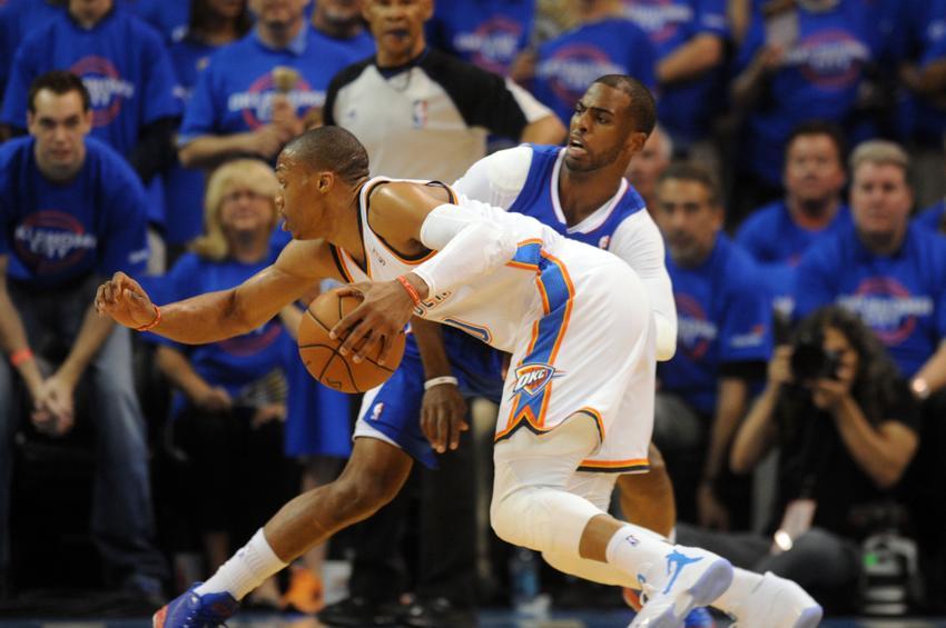 Chris Paul e Russel Westbrook são duas das principais estrelas do 'Oeste' Fonte: nextimpulsesports.com
