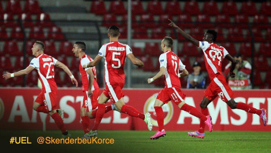 O KF Skenderbeu surpreendeu e fez a festa frente ao Sporting CP Fonte: K.F Skenderbeu