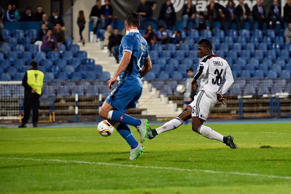 O momento em que Embolo confirma o segundo golo no Restelo. Fonte: FC Basel 1893