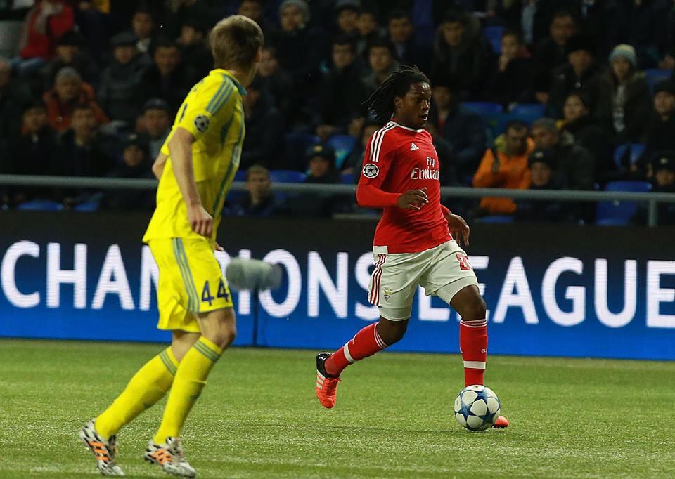 Renato Sanches estreou-se a titular frente ao Astana Fonte: Sport Lisboa e Benfica