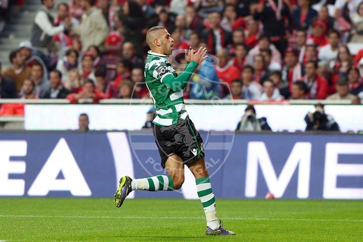 Slimani voltou a ser decisivo no Sporting CP Fonte: Sporting Clube de Portugal