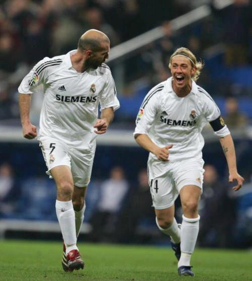 Zidane e Guti: Dois génios Fonte: Real Madrid CF