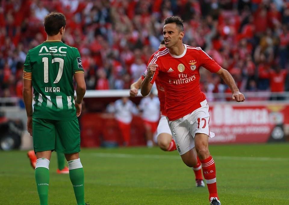 Jonas tem sido peça-chave na equipa de Rui Vitória; Fonte: Facebook do Sport Lisboa e Benfica