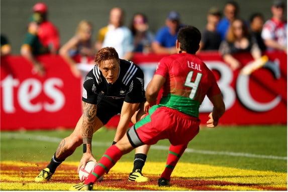 O capitão Pedro Leal comandou uma renovada selecção no Dubai. Fonte: Sevens World Rugby Series