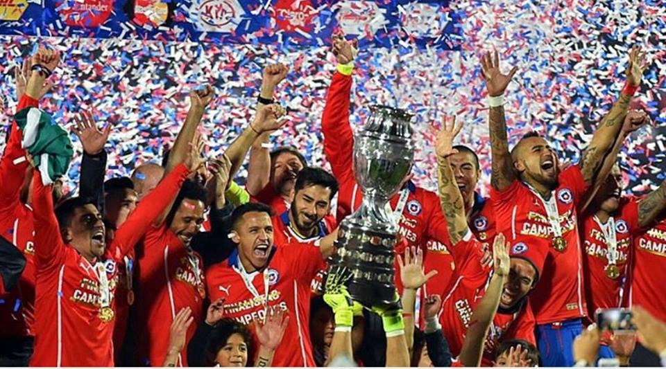 O Chile fez História na competição que organizou Fonte: Facebook de Alexis Sánchez
