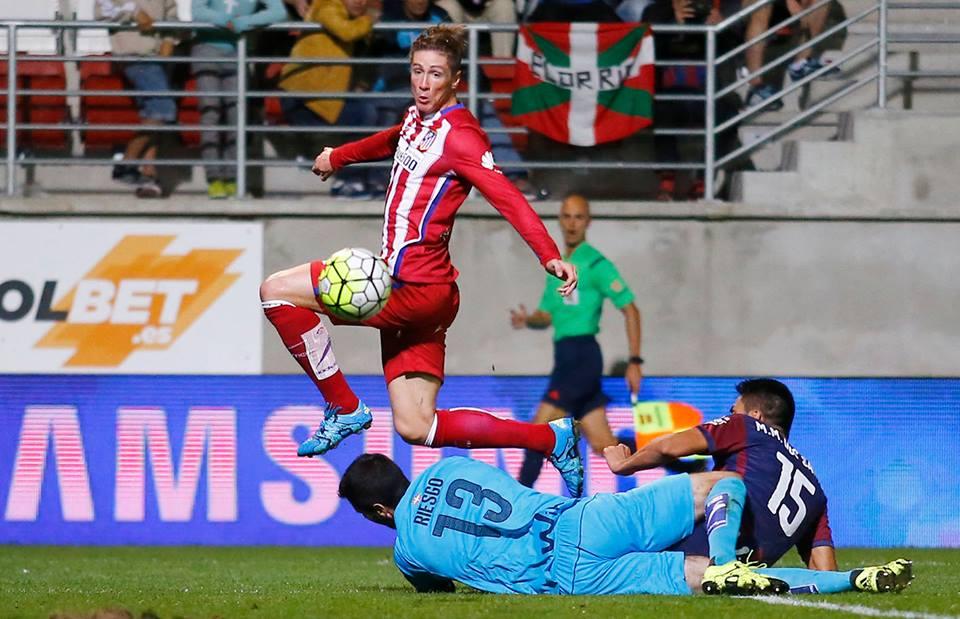 Torres faz o seu 99.º golo pelo Atlético de Madrid  Fonte: Facebook Oficial do Atlético de Madrid
