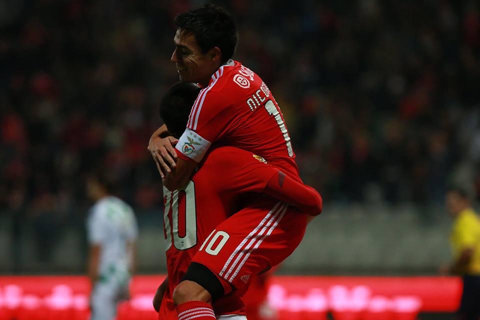 Gaitan e Talisca, os heróis da noite Fonte: SL Benfica
