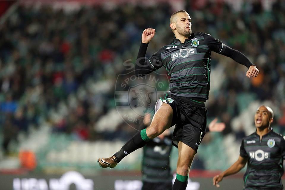 Slimani  - sempre ele - voltou a dar vantagem aos leões Fonte: Sporting CP