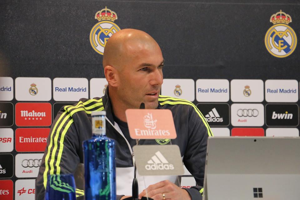 Zidane pode conquistar a sua primeira Liga Espanhola como treinador no próximo domingo Fonte: Real Madrid CF