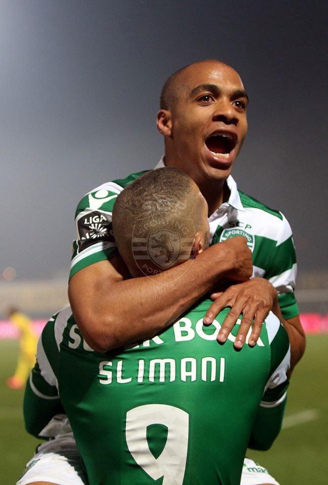 Os dois maiores obreiros da vitória em Paços. Que temporada fantástica têm feito! Fonte: Sporting CP