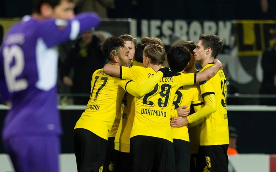 Dortmund foi mais feliz Fonte: Borussia Dortmund
