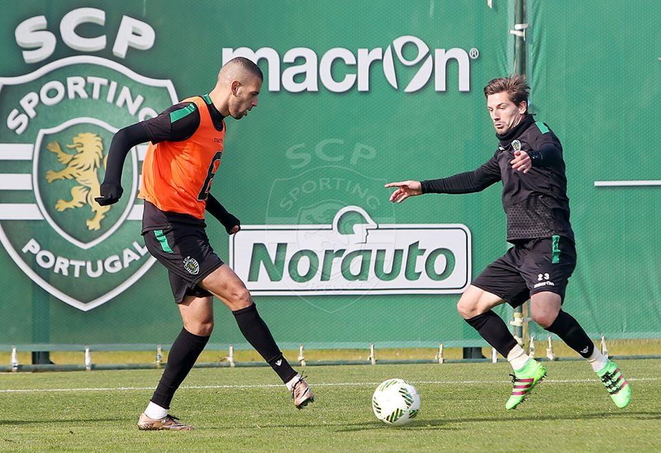 Adrien e Slimani, o comandante e o atirador deste Sporting Fonte: Sporting CP