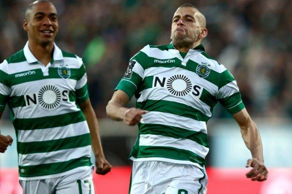 Slimani e João Mário foram os principais obreiros da vitória frente ao Estoril Fonte FPF