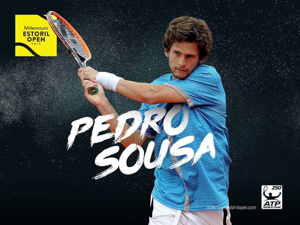 Pedro Sousa recebeu um convite da organização para disputar o quadro principal do Estoril Open Fonte: Estoril Open