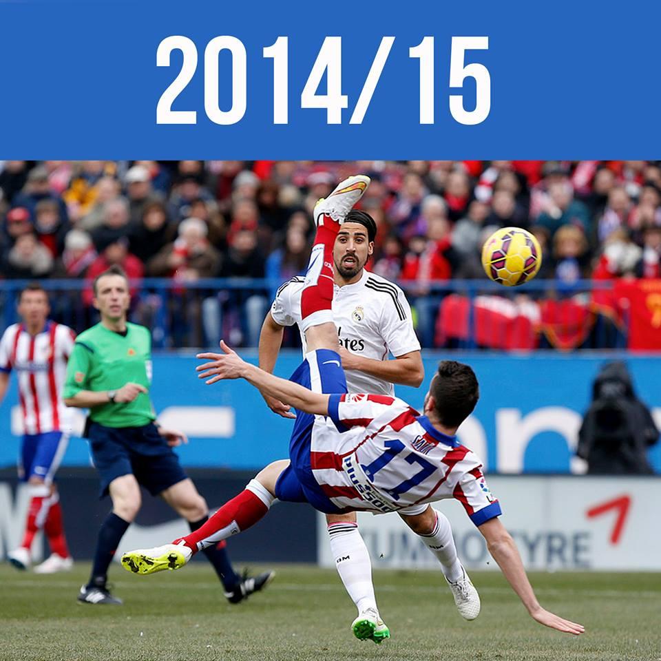Saúl marca ao Real Madrid, de pontapé de bicicleta Fonte: Club Atlético de Madrid