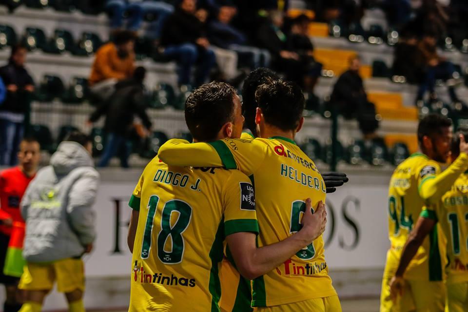 Diogo Jota deu os três pontos ao Paços Fonte: Paços de Ferreira