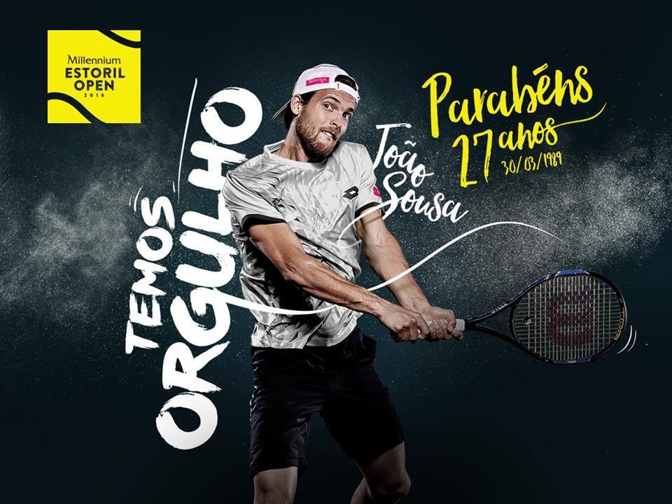 João Sousa não terá tarefa fácil na sua estreia Fonte: Estoril Open