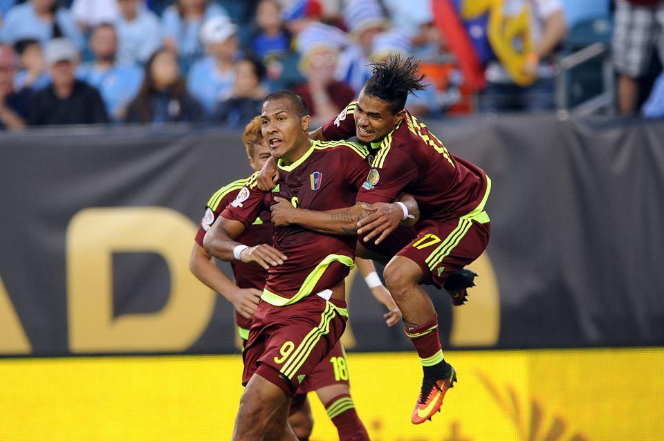 Venezuela eliminou o Uruguai Fonte: Copa America Centenario