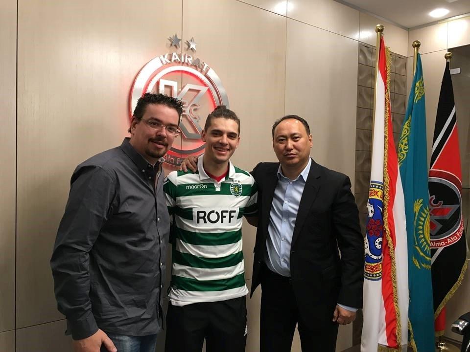 Léo, vindo do Kairat Almaty, é uma das novidades do Sporting 2016/17 Fonte: Sporting Clube de Portugal