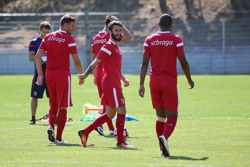 Rafa Silva continua a treinar no SC Braga Fonte: SC Braga