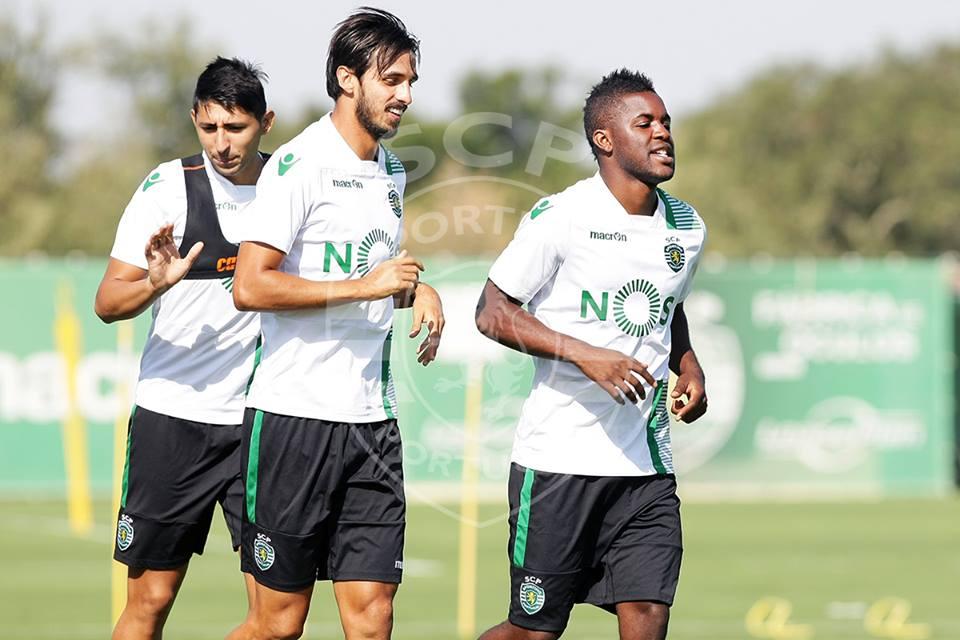 """Bryan Ruiz é o """"padrinho"""" de Campbell em Alvalade Fonte: Sporting CP"""