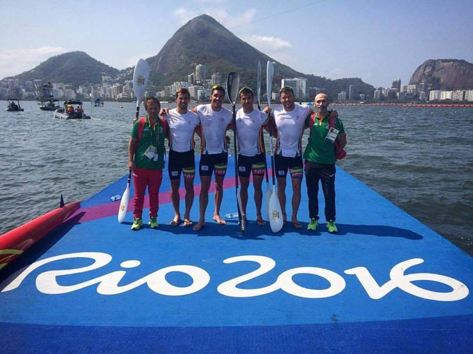 Estes quatro atletas transportam o sonho português de um eventual lugar no pódio Fonte: Facebook de Fernando Pimenta