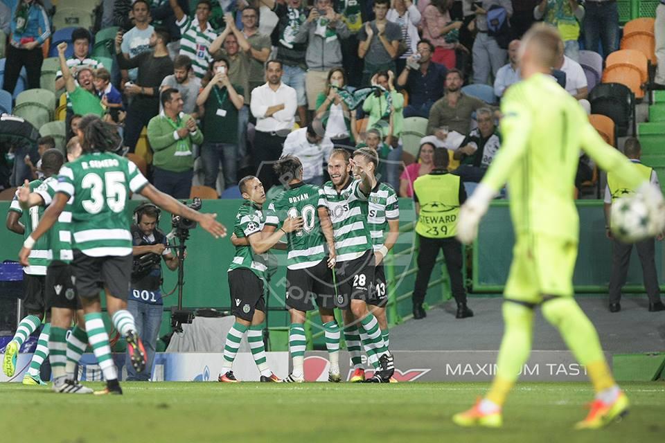 Bryan Ruiz e Bas Dost foram os goleadores da noite Fonte: Sporting CP