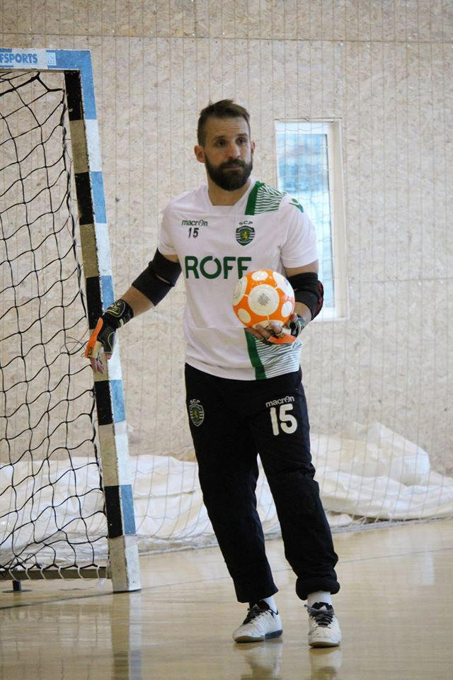 """Marcão é o guardião do futsal """"verde e branco"""" Fonte: Sporting CP"""