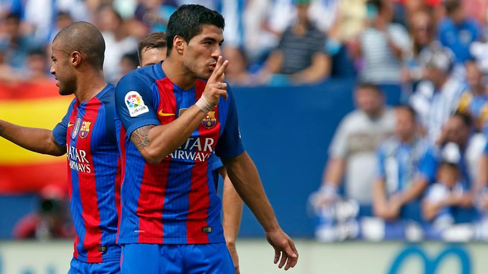 Suárez foi substituído contra o Leganés. Algo muito raro Fonte: FC Barcelona