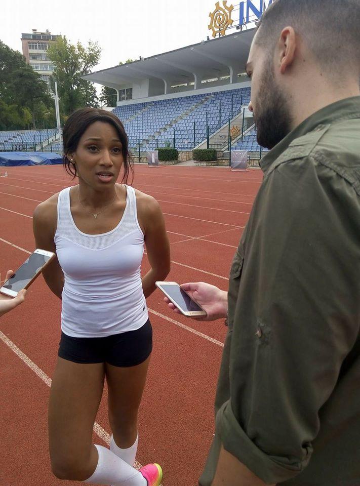 Patrícia Mamona em entrevista ao Bola na Rede Fonte: Filipe Gonçalves
