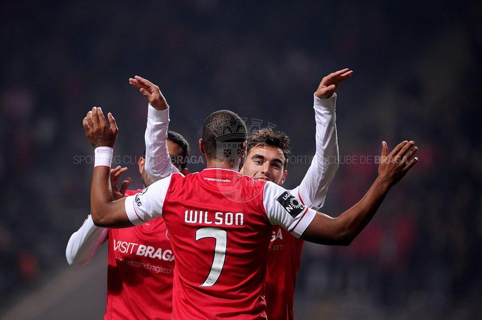 Mais uma vez, Wilson Eduardo voltou a faturar contra o Sporting Fonte: SC Braga