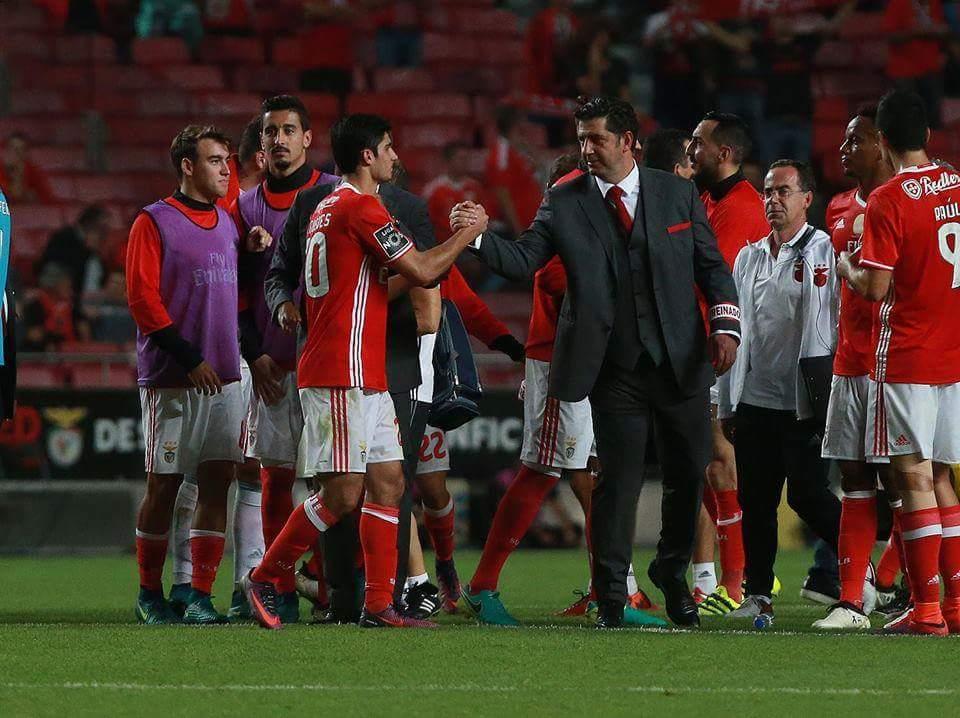Rui Vitória tem um registo positivo no encontro frente aos rivais da 2ª Circular Fonte: SL Benfica
